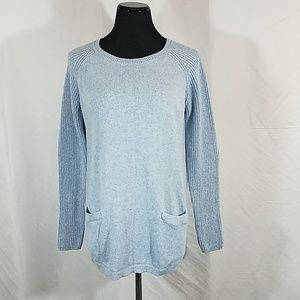 Gap Blue Knit Pullover Sweater